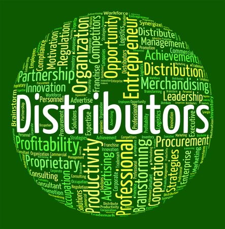 Distributors Word Indicating Logistics Delivery And Wordclouds