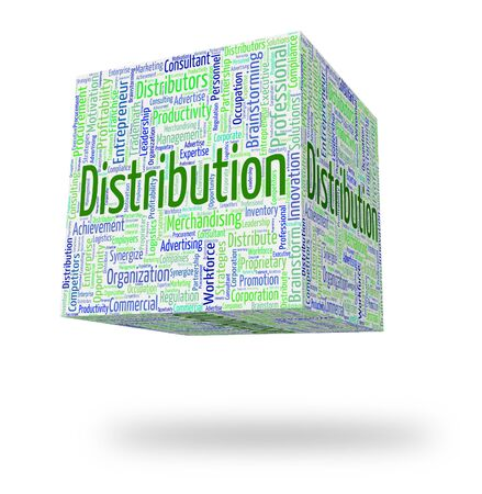Distribution Word Showing Supply Chain And Delivery