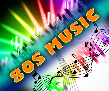 Eighties Music Indicating Sound Track And Harmony