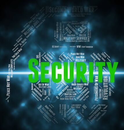 Security Word Representing Encrypt Wordclouds And Login
