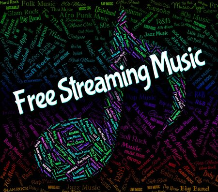 Free Streaming Music Indicating No Cost And Singing