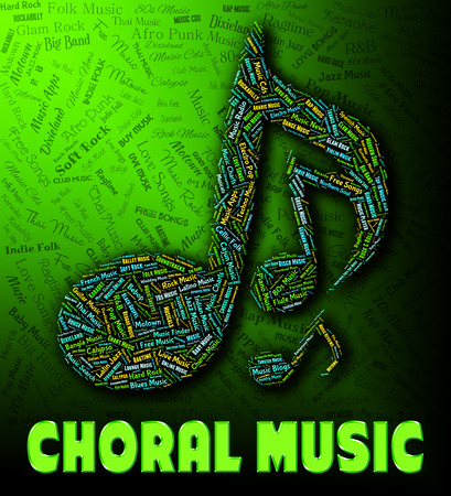 Choral Music Indicating Sound Track And Harmonies