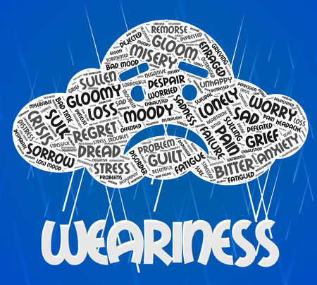 Weariness Word Meaning Tiredness Wordcloud And Wordclouds
