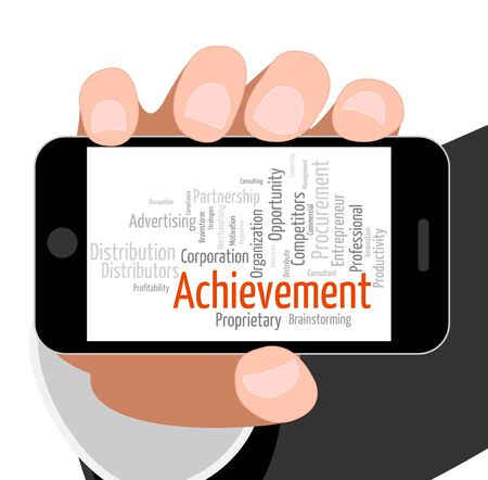 Achievement Word Indicating Achieving Wordclouds And Success