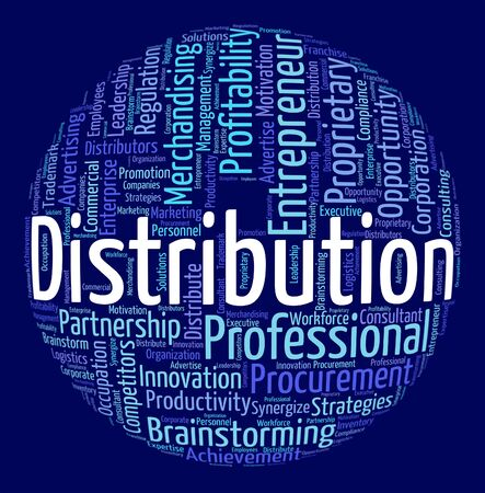 Distribution Word Showing Supply Chain And Wordclouds