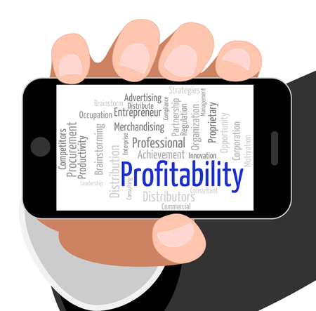 Profitability Word Indicating Return Wordclouds And Profitable