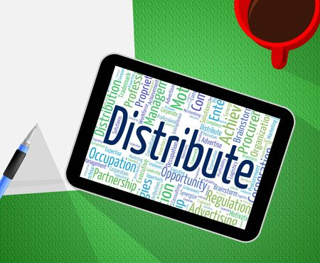 Distribute Word Representing Supply Chain And Distributor