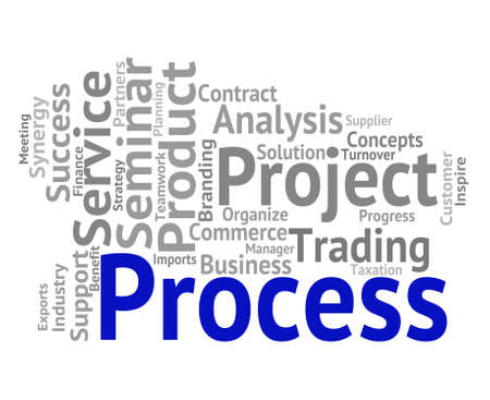 Process Word Showing Processes Task And Method