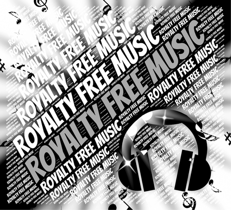 Royalty Free Music Indicating Sound Tracks And Copyrighted