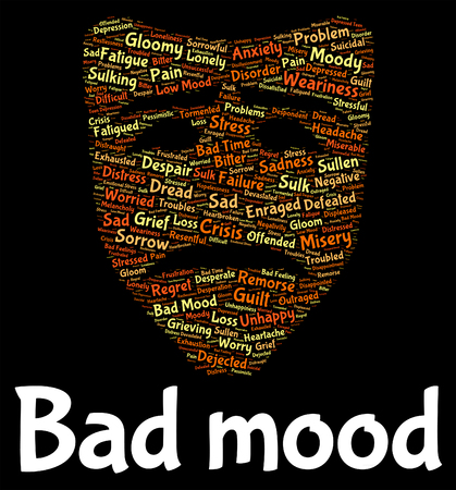 Bad Mood Indicating Depression Words And Wordcloud