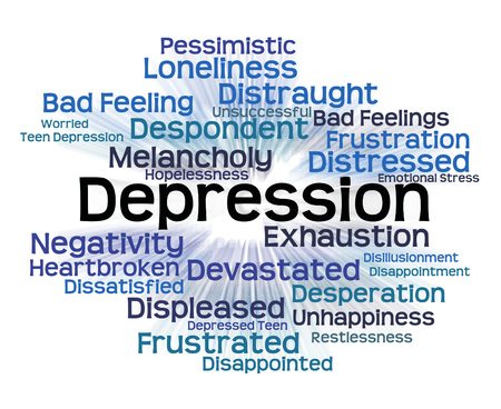 Depression Word Showing Lost Hope And Distress