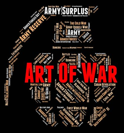 Art Of War Indicating Business Strategy And Planning