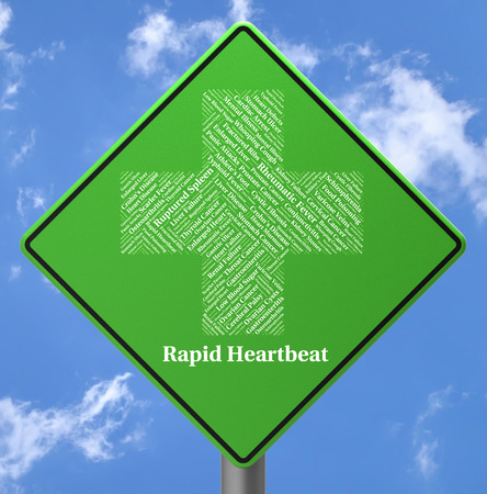 Rapid Heartbeat Representing High Speed And Disease