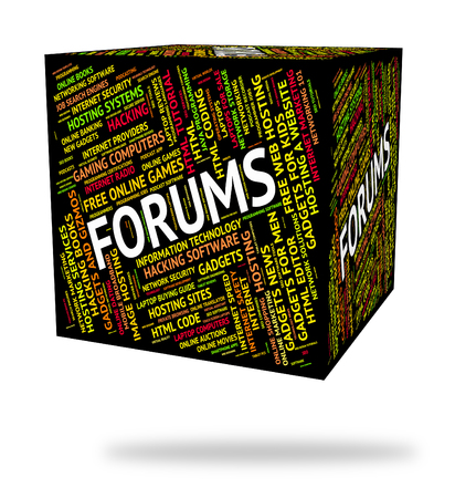 Forums Word Representing Communication Chat And Text