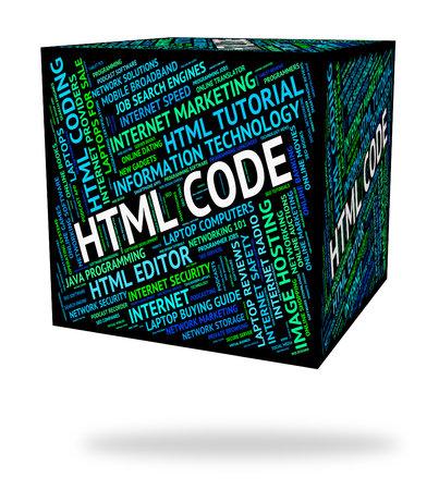 Html Code Representing Hypertext Markup Language And Program Coding