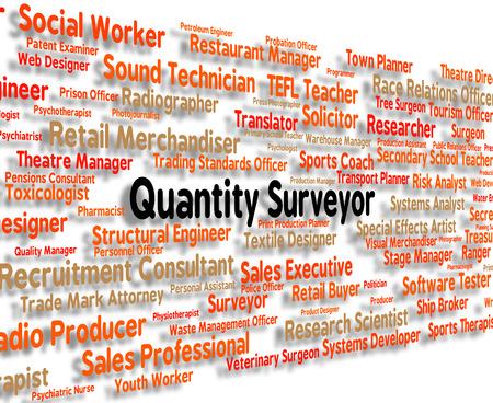 Quantity Surveyor Representing Occupations Amount And Job