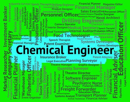 Chemical Engineer Indicating Work Hiring And Occupation