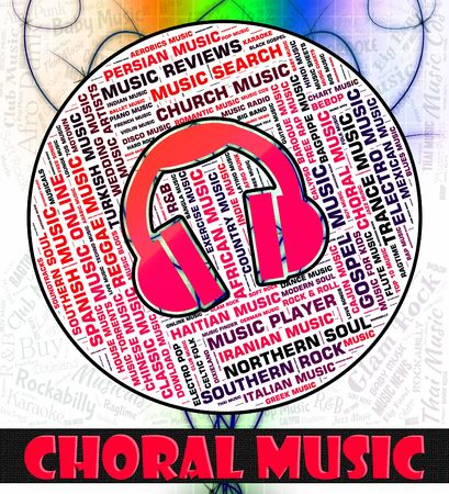 Choral Music Representing Sound Track And Singing