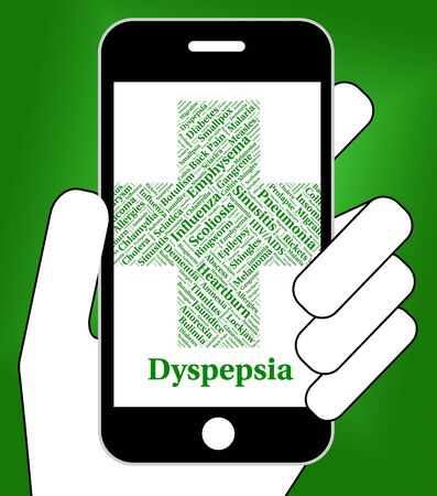 Dyspepsia Problem Showing Ill Health And Complaint