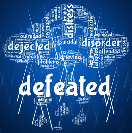 Defeated Word Showing Trounce Conquered And Lost