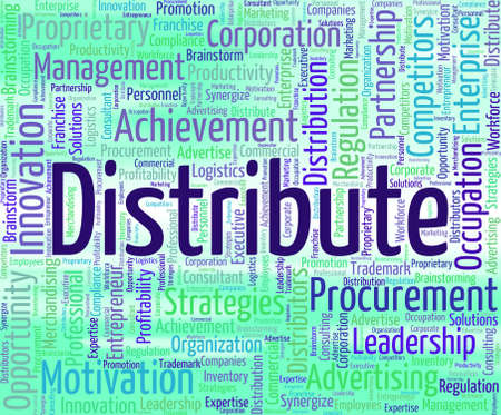 Distribute Word Showing Supply Chain And Distributing
