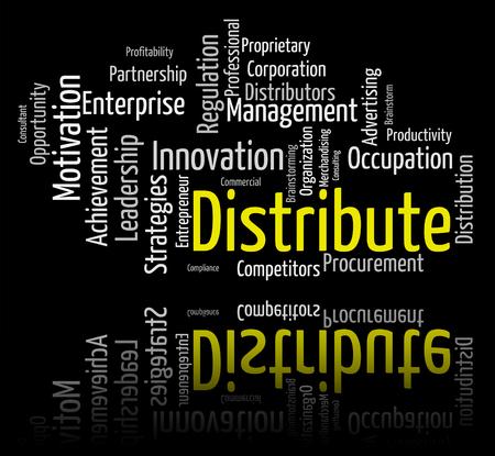 Distribute Word Indicating Distributor Text And Distribution