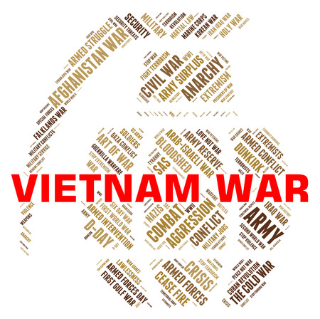 Vietnam War Indicating Military Action And Clashes