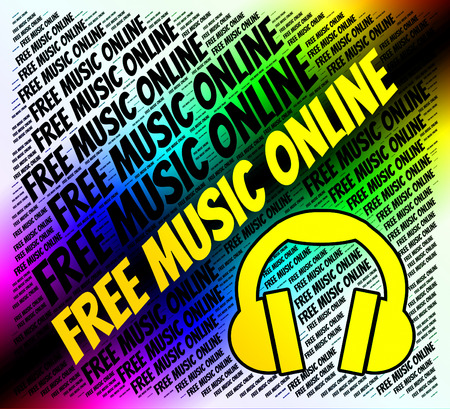 Free Music Online Indicating Sound Tracks And Melody