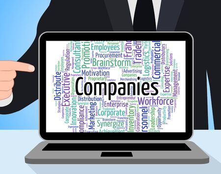 Foto für Companies Word Indicating Businesses Trade And Corporate - Lizenzfreies Bild