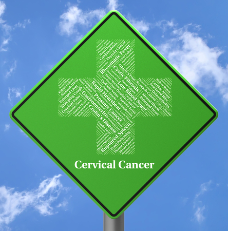 Cervical Cancer Showing Ill Health And Infections