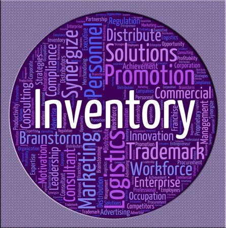 Inventory Word Indicating Product Storage And Wordcloud