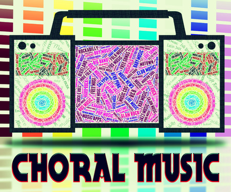 Choral Music Indicating Sound Track And Choristers