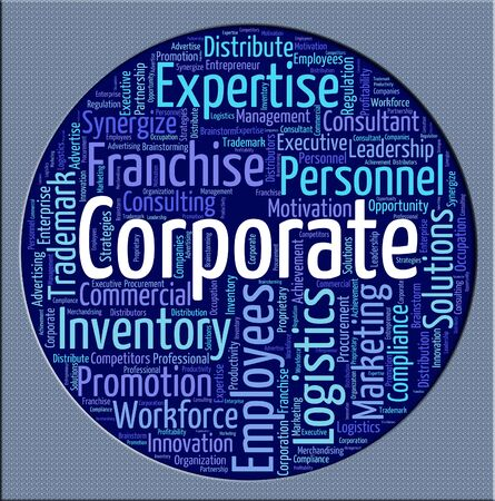 Corporate Word Showing Corporation Company And Corporations