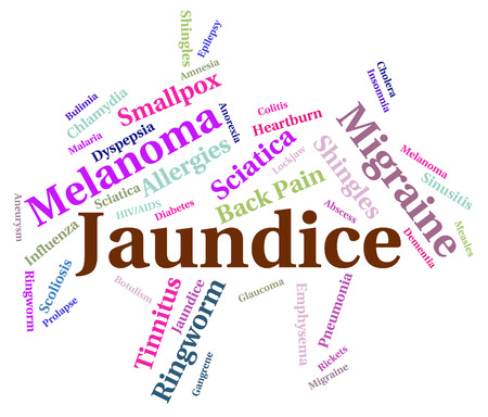 Jaundice Illness Representing Poor Health And Words