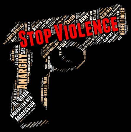 Stop Violence Showing Brute Violent And Brutishness