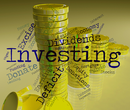 Investing Word Showing Return On Investment And Growth Portfolio