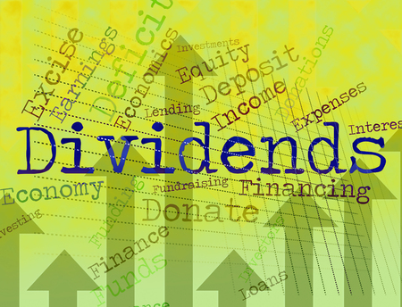 Dividends Word Meaning Stock Market And Incomes