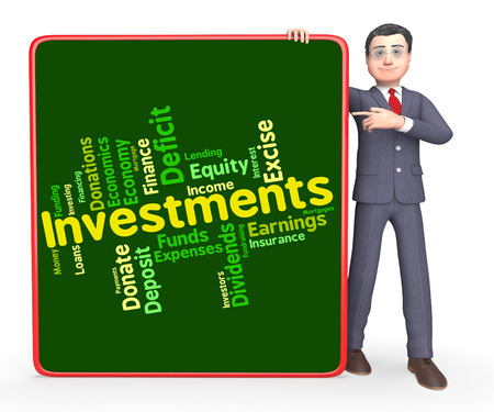 Investments Word Showing Return Invests And Growth