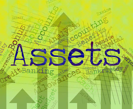 Assets Words Showing Wealth Capital And Goods
