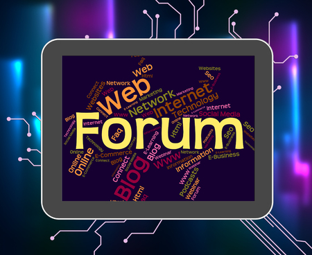 Forum Word Representing Network Convention And Website