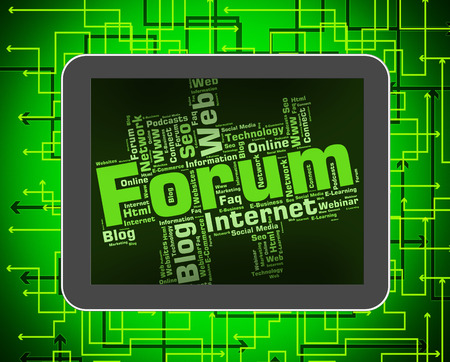 Forum Word Indicating Social Media And Group