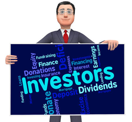 Investors Word Representing Return On Investment And Roi Growth