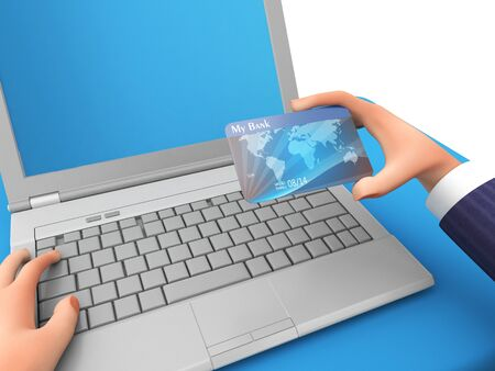 Credit Card Meaning World Wide Web And Business Person 3d Rendering