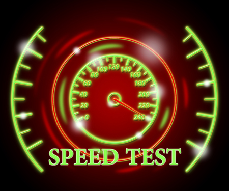 Speed Test Indicating Rush Fast And Quizzes