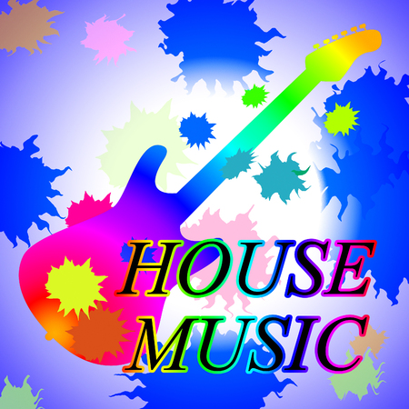 House Music Representing Sound Track And Musical
