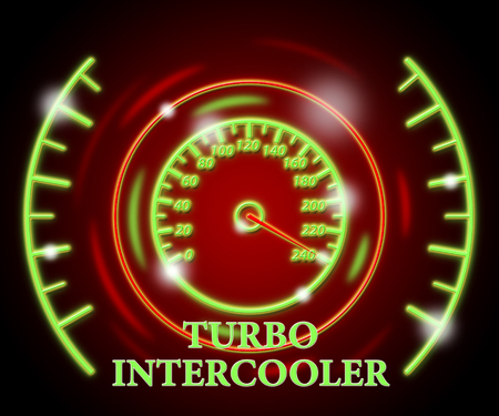 Turbo Intercooler Showing High Speed And Quicker
