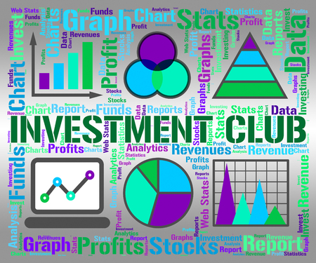 Investment Club Representing Business Graph And Diagram