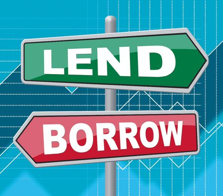 Lend Borrow Representing Signs Funds And Creditor