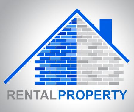 Photo pour Rental Property Showing Real Estate And Household - image libre de droit