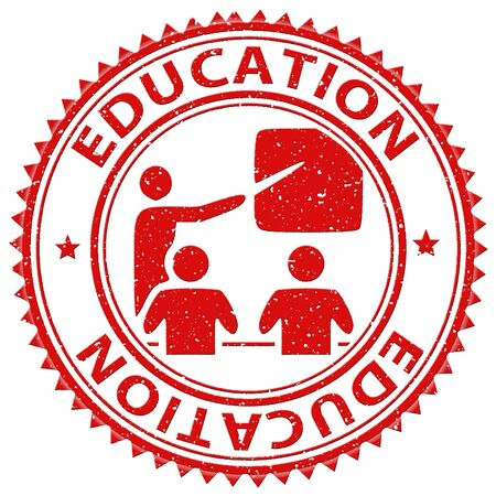 Education Stamp Indicating Educated Schooling And Educating